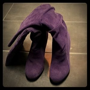 Jessica Simpson Plum suede boots size 6